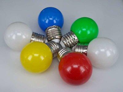 Gekleurde Ledlampen 1,2W, E27 G45