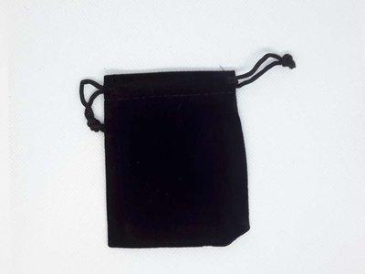 Zwart fluwelen zakjes 7x9 cm, per 25 stuks