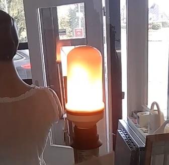 Vlammen lamp, 5W, E27, melkglas