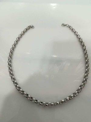 Edelstaal jasseron ketting, L 45 cm