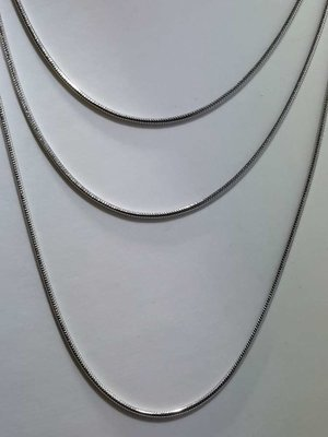Edelstaal Ronde slangenketting, L 80 cm