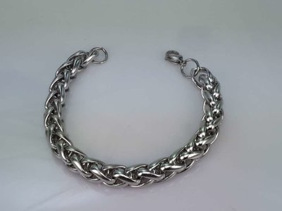 Edelstaal vossenstaart schakel armband. keuze uit lengte armband 21 en 23 cm.