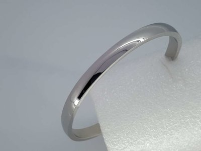 Bangle armband, glad 5,5 mm, edelstaal
