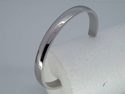 Bangle armband, glad 7,7mm, edelstaal