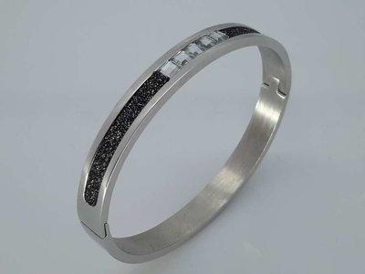 Slaven Armband, 5 kristal, diamandkruimels, ovaal edelstaal