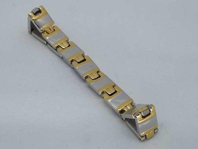 Schakel Armband, goudkl scharnier, edelstaal
