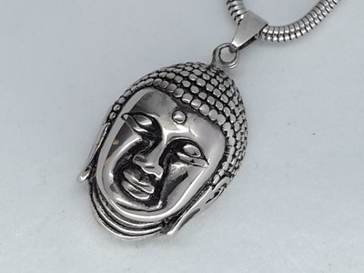 Hanger, Boedha hoofd, edelstaal