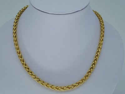 Heren ketting goudkl 8, ringen, edelstaal