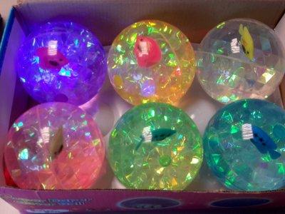 Glitter Led bal 100mm, Vis, Super Duper