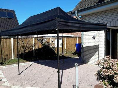 Easy-up tent 3 x 6 mtr, zwart, budget