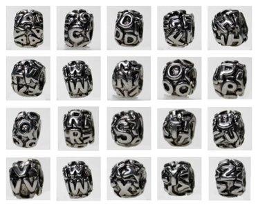Bedel Letters II, pandorastyle, per 6