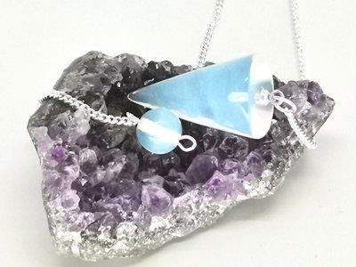 Druppel Pendel met Opaal edelsteen