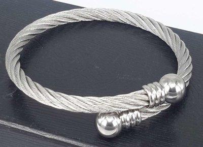 Edelstaal Dames Armband, flexibel kabel.