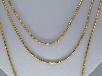 rupsketting 2, goudkl edelstaal, 45