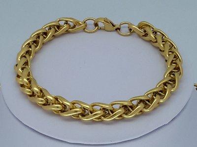 Armband goudkl 8, ringen, edelstaal