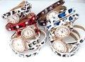 Armbandhorloge-PU-leren-wrap-(3-)-rosékleur-klok-strass-panterprint-6-kleuren